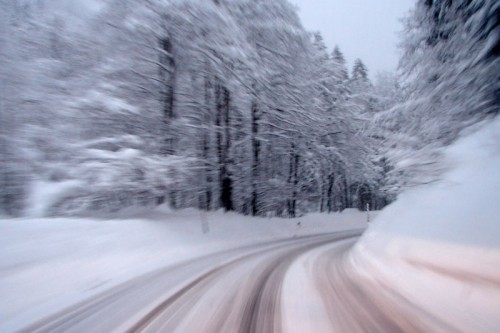 Speeding in snow