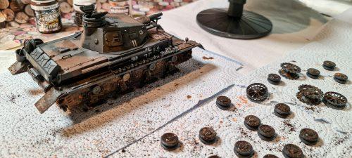 Panzer IV ausf D - weathering in progress